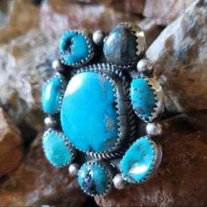 Turquoise Sterling Silver Navajo Ring